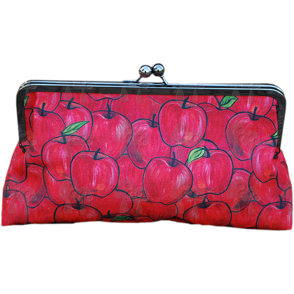 'She's apples' clutch purse