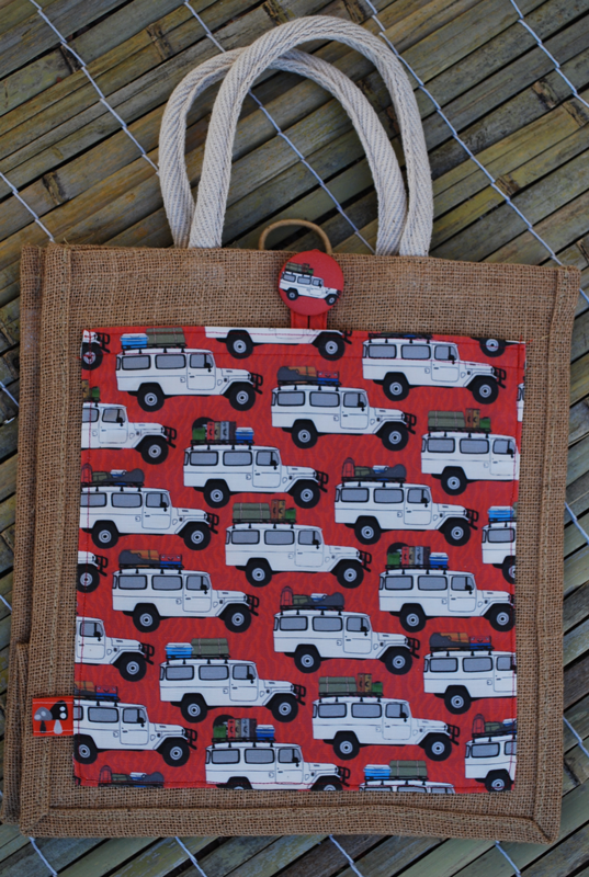 Jute tote: troopies to the desert