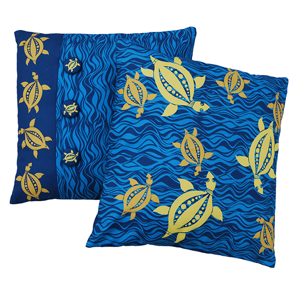 turquoise turtle cushions