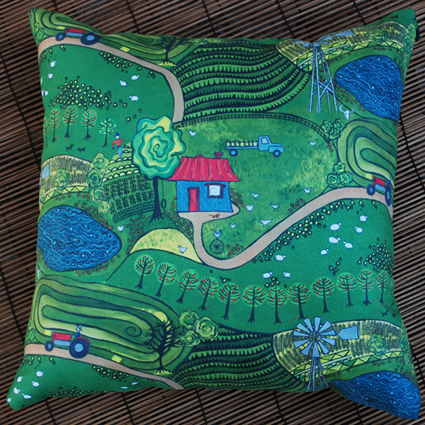 Cushion: Down on the farm