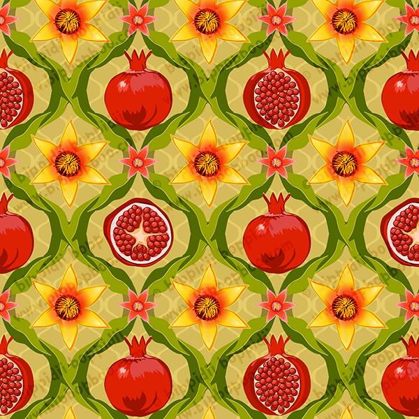 papa's pomegranates (yellow flowers)