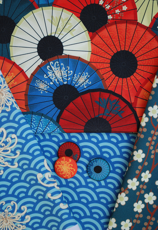Fabric & buttons: Umbrellievable collection