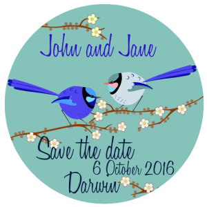 Save the date - Splendid fairy wren design
