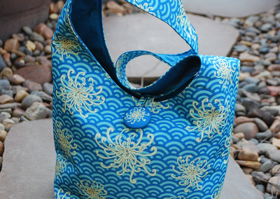 Shoulder bag: umbrellievable flower (blue)