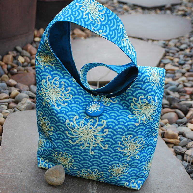 Shoulder bag: umbrellievable flower (blue)