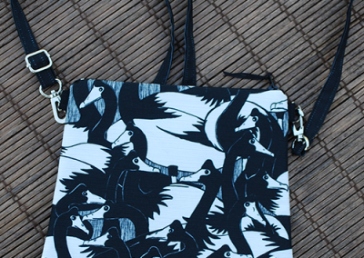 Mini zip tote: geese in the 'hood