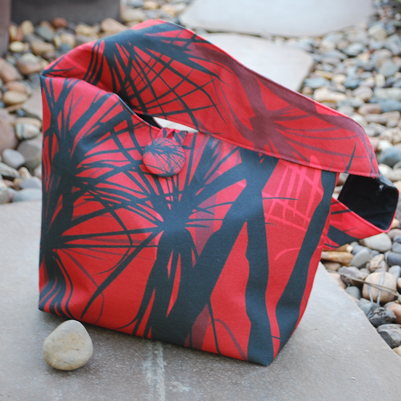 Shoulder bag: Pandanus sunset