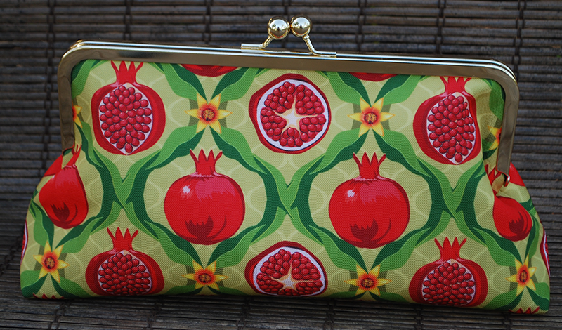 Clutch purse: Papa's pomegranates