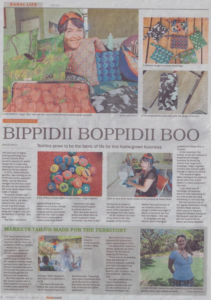 bippidii boppidii boo: NT Rural Weekly