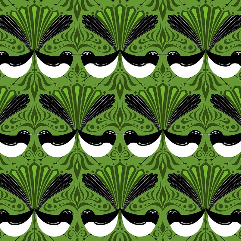 wagtail parade (green)