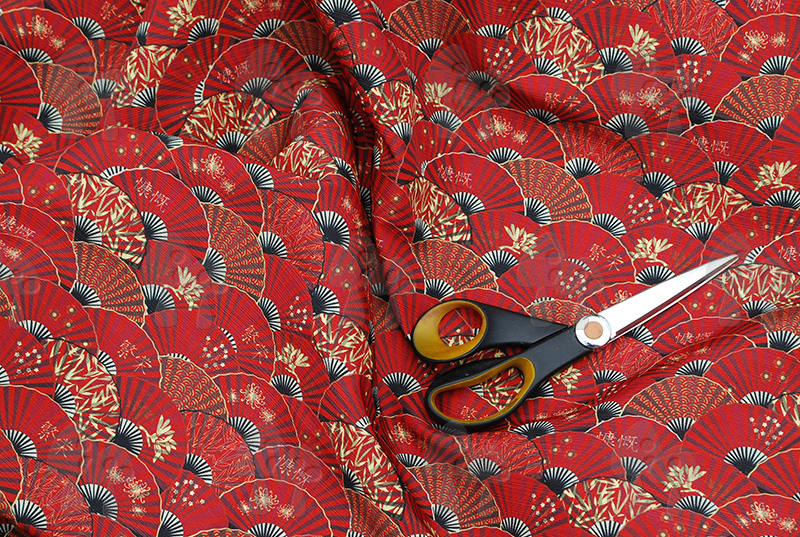 fan me! fabric (scarlet)