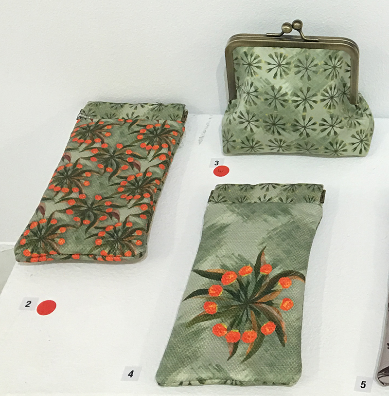 wattle blossom glasses slip cases and wattle pod purse