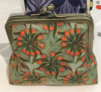 wattle blossom purse