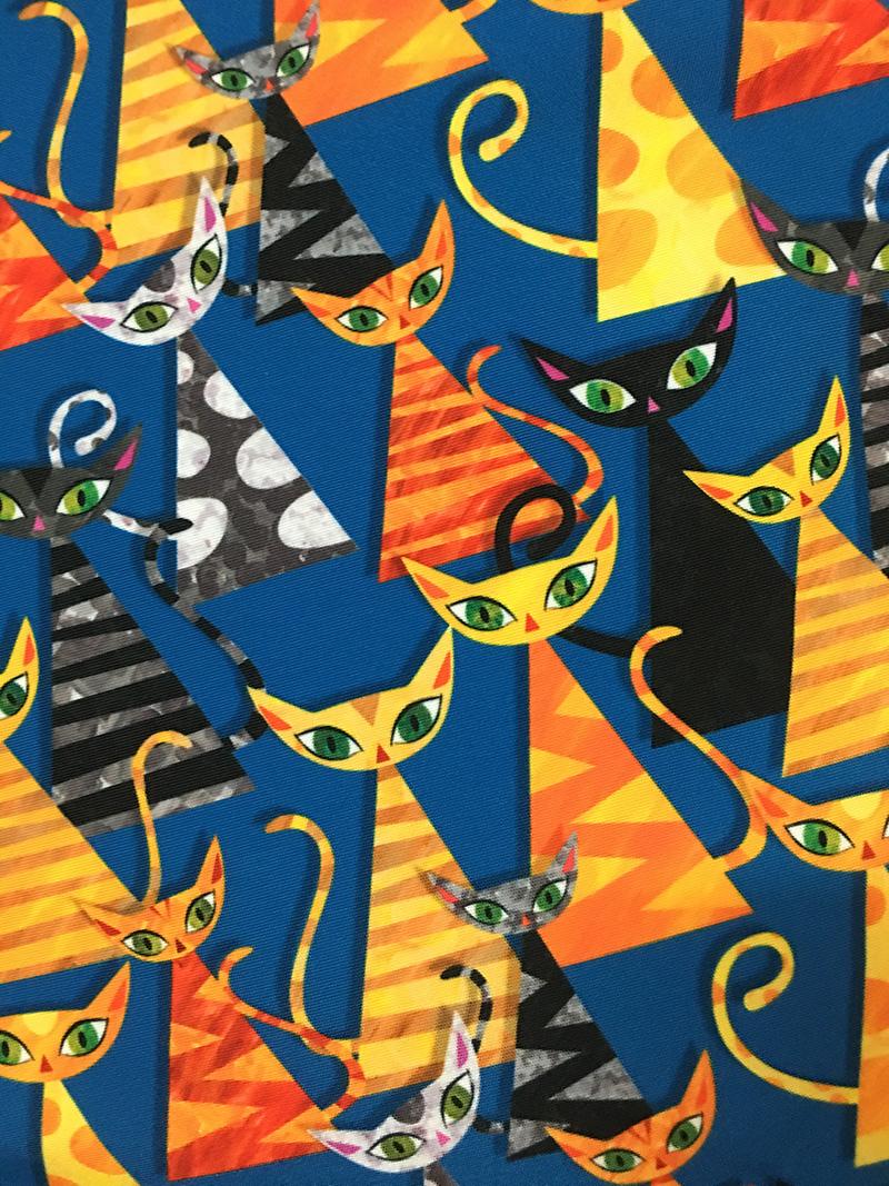 cat fabric, sky