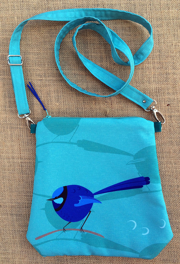 splendid fairy wren evening bag by bippidii boppidii