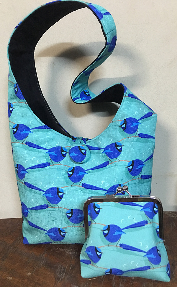 splendid fairy wren shoulder bag and purse by bippidii boppidii