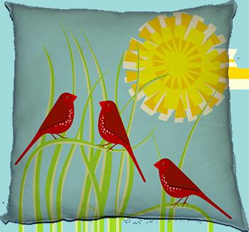 crimson finch (sunbathing)