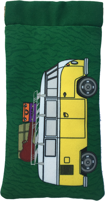 kombi-mania (yellow on green)