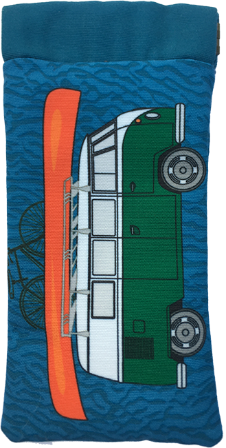 kombi-mania (green on blue)