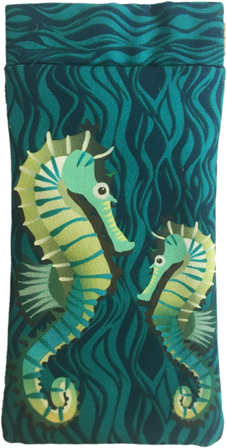 seahorses on parade (teal)