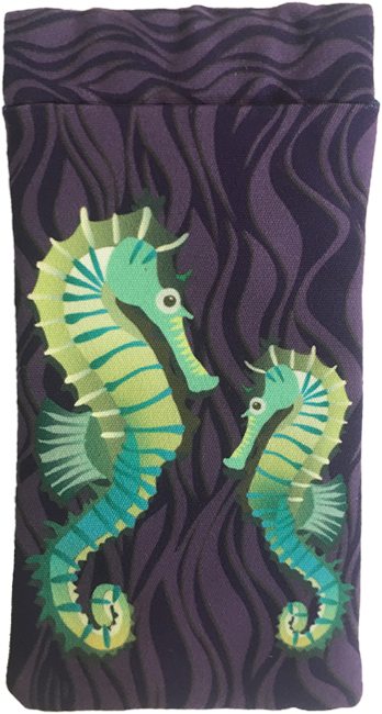seahorses on parade (purple)