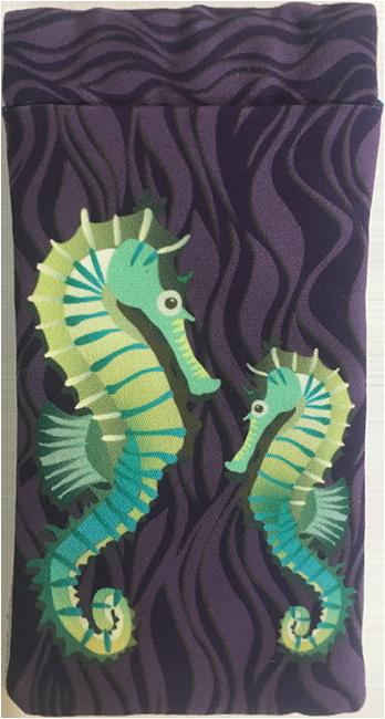 seahorses on parade (purple)
