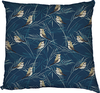 sway (blue) cushion