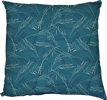 finch grass (blue) cushion