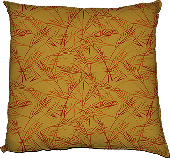 finch grass (gold) cushion