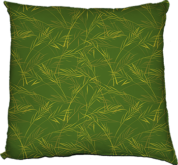 finch grass (green) cushion