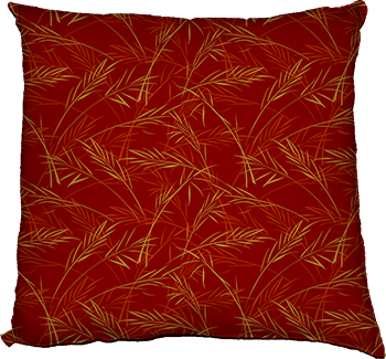 finch grass (red) cushion
