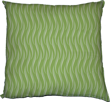 who, me? (green leaves) cushion