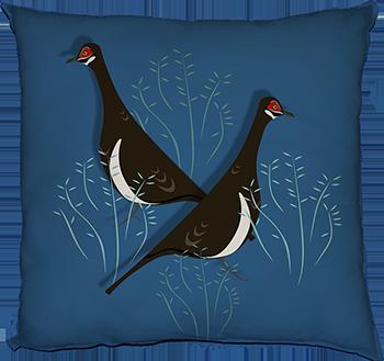partridge pigeon (feature, cobalt)