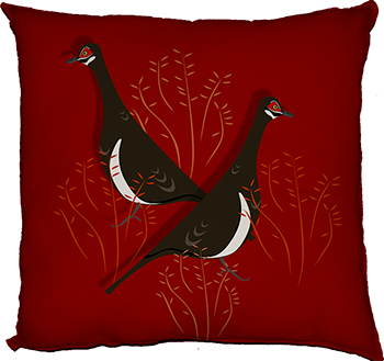 partridge pigeon (feature, red)