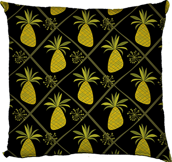 pineapple party (black, medium scale)