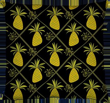 pineapple party (black, medium scale)