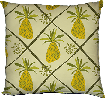 pineapple party (cream, large scale)
