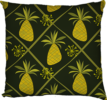 pineapple party (green, large scale)